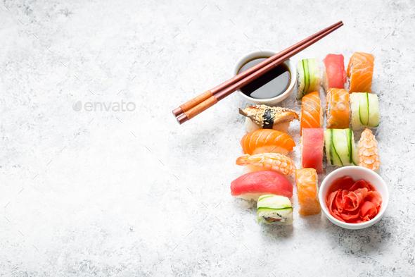 Sushi assorted set - Stock Photo - Images
