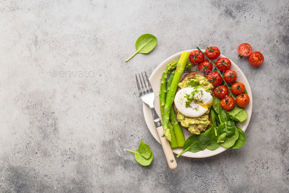 Healthy vegetarian meal plate - Stock Photo - Images