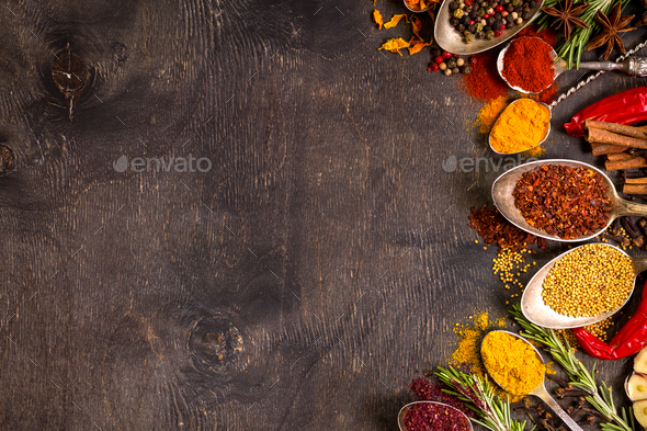 Set of various aromatic colorful spices - Stock Photo - Images