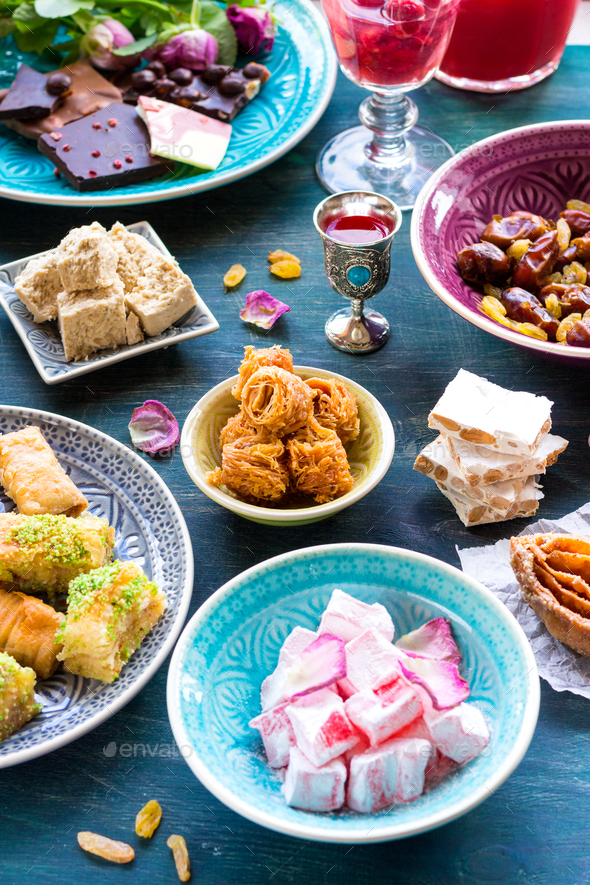Assorted eastern desserts - Stock Photo - Images