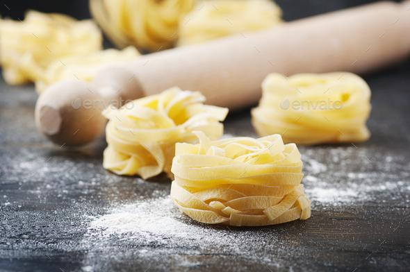 Sardinian traditional pasta malloreddus with sausage - Stock Photo - Images