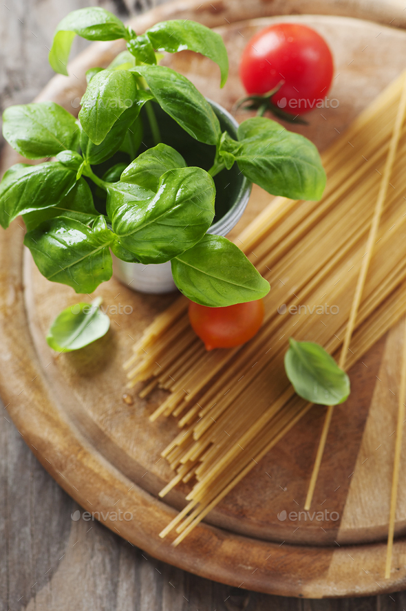 Concept of italian food with pasta - Stock Photo - Images