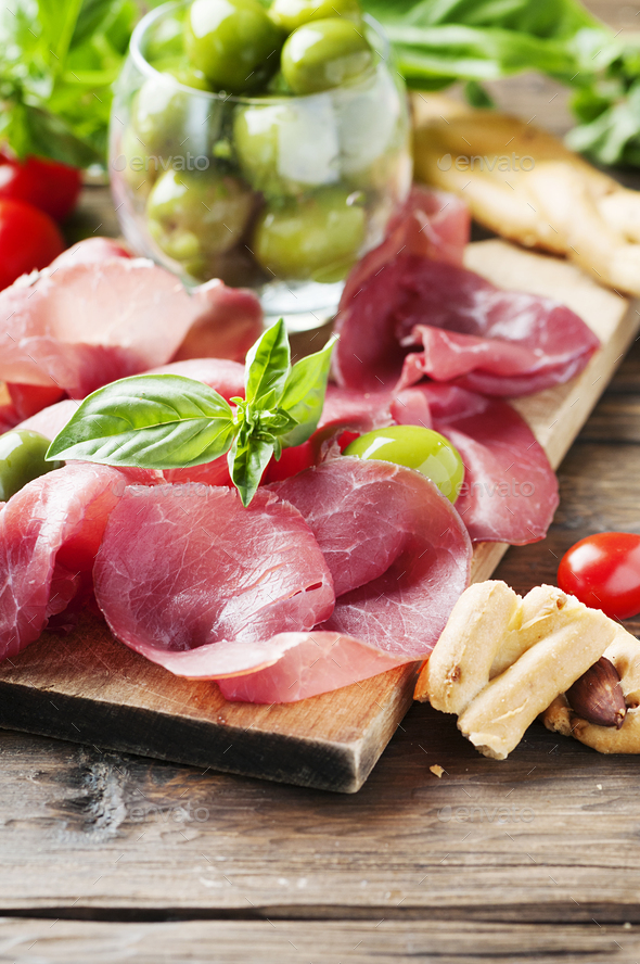 Italian traditional carpaccio of beef - Stock Photo - Images