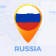 Travel Map Russia - Russian Federation Map