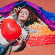 Young redhead woman celebrating gay pride day - PhotoDune Item for Sale