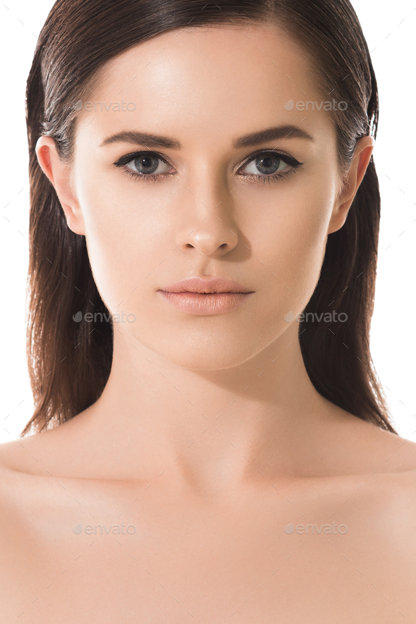 Eye line woman face makeup - Stock Photo - Images