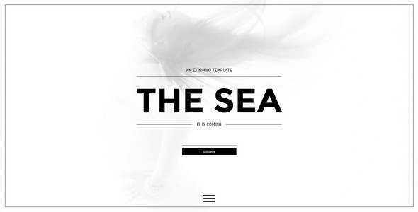 The Sea    Responsive Coming Soon Page