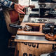 A man preparing cappuccino in a coffee machine. - PhotoDune Item for Sale