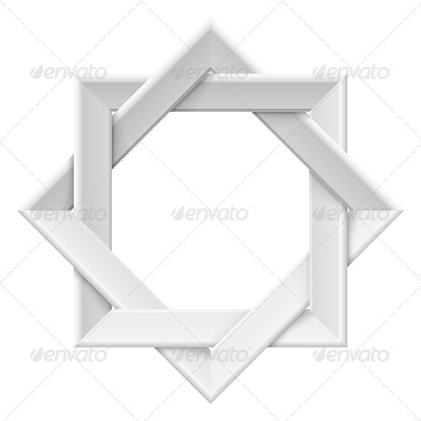 Realistic white frame - Objects Vectors