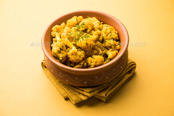 Dry Gobi Masala Sabzi - Stock Photo - Images