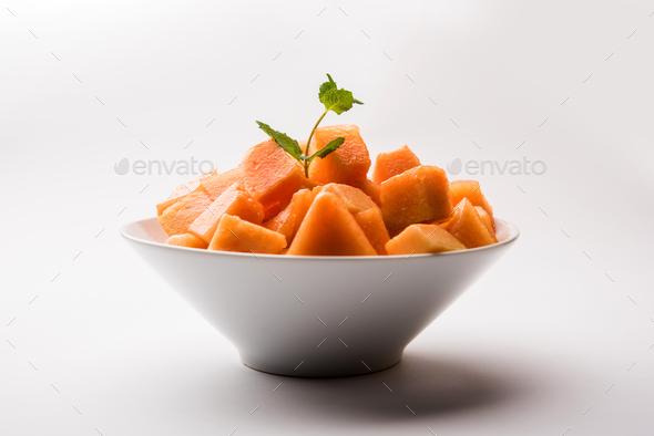 Cantaloupe / muskmelon / kharbuja - Stock Photo - Images