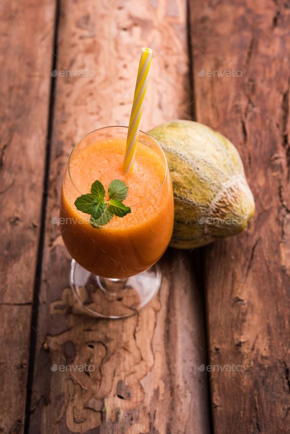 Muskmelon Juice - Stock Photo - Images