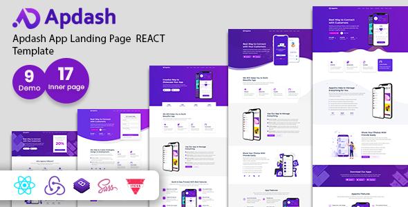 Apdash - App Landing Page React Template