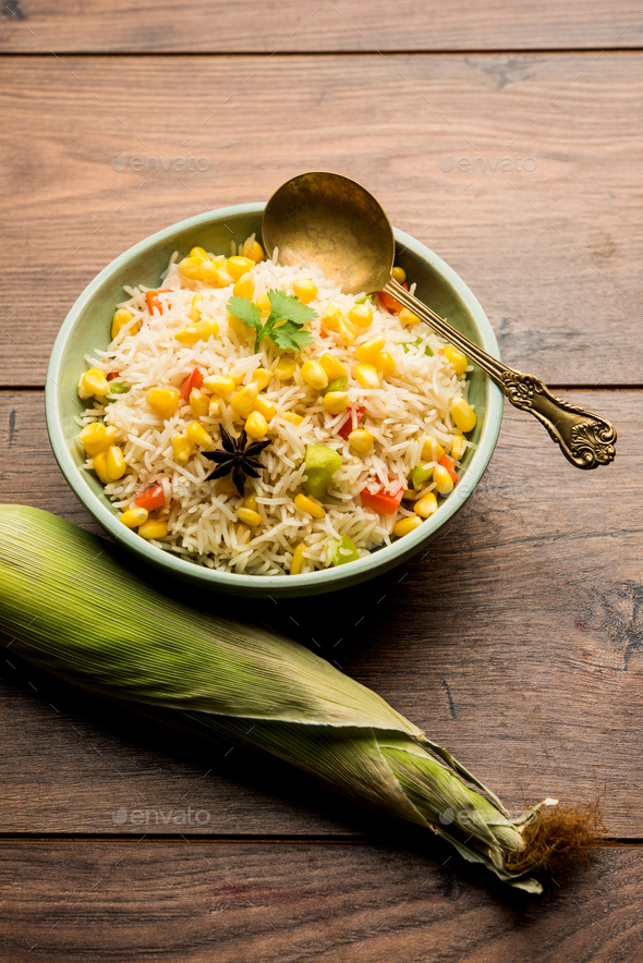 Corn Pulao - Stock Photo - Images