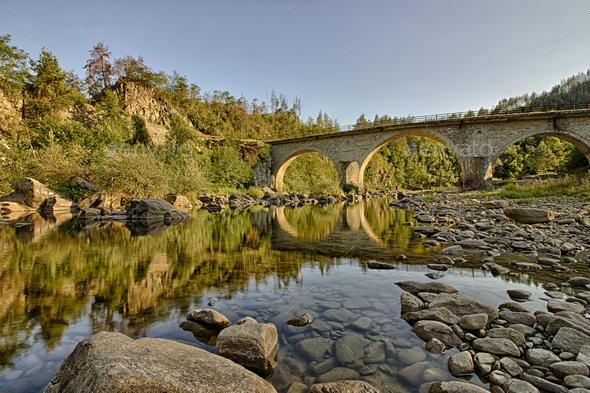 stone bridge - Stock Photo - Images