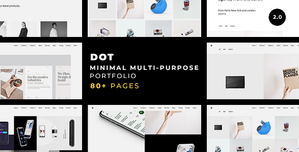 Dot — A Clean & Minimalist Multi-Purpose Portfolio