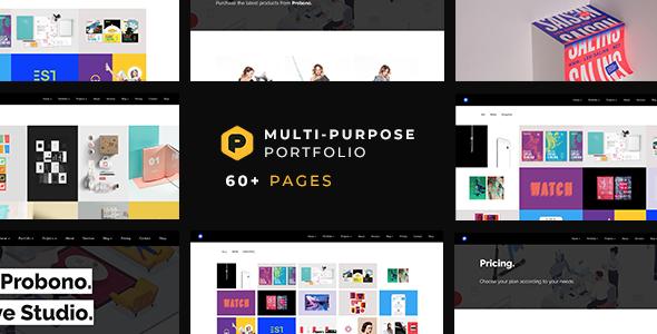 Probono — Multi-Purpose Creative Portfolio Template