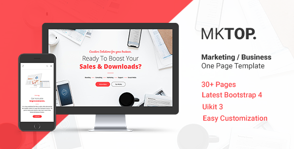 MKTOP — Marketing & Business One Page Template