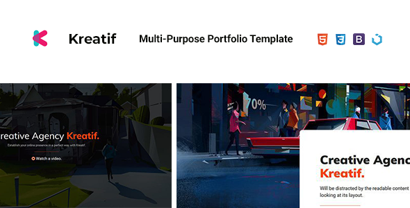 Kreatif — Creative Multi-Purpose Portfolio Template