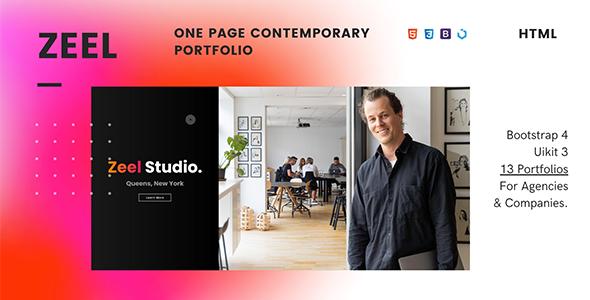 Super Zeel — One Page Contemporary Portfolio