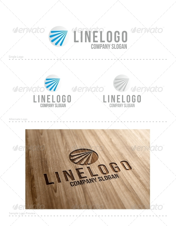 Line Logo - Vector Abstract