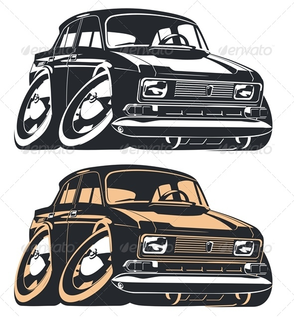 Vector Cartoon Car - Miscellaneous Characters