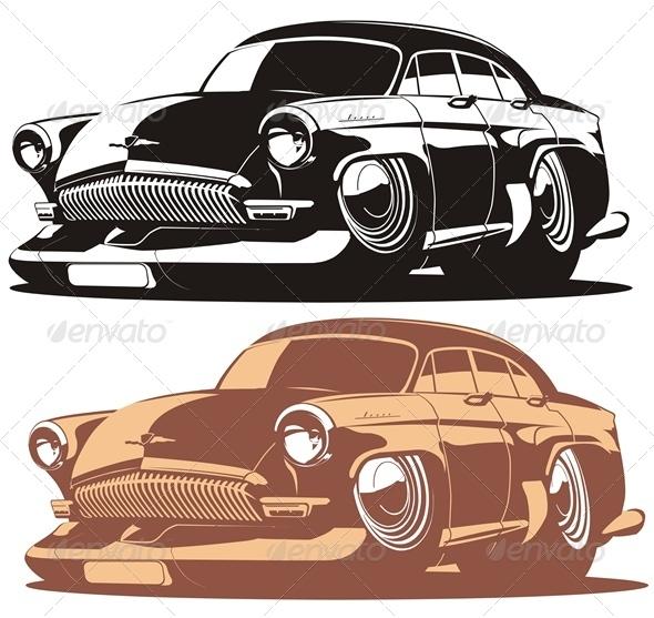 Vector Cartoon Car - Characters Vectors