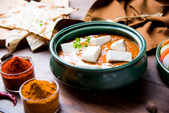 Paneer Butter Masala - Stock Photo - Images