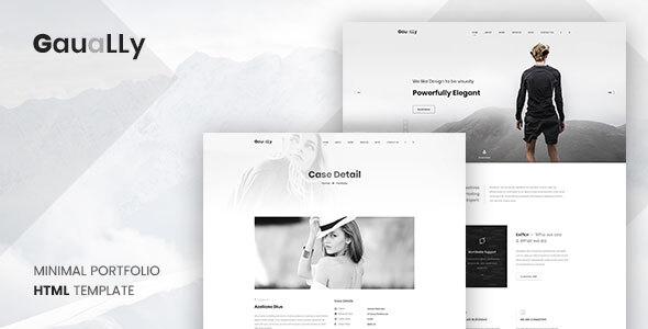 Gaually: Minimal Creative Portfolio HTML5 RTL Template
