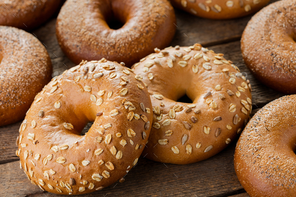heap of bagels - Stock Photo - Images