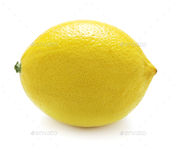 Lemon on white - Stock Photo - Images