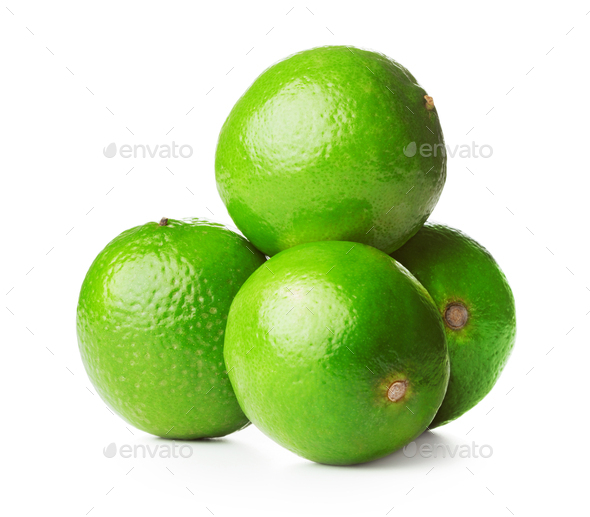 Heap of limes - Stock Photo - Images