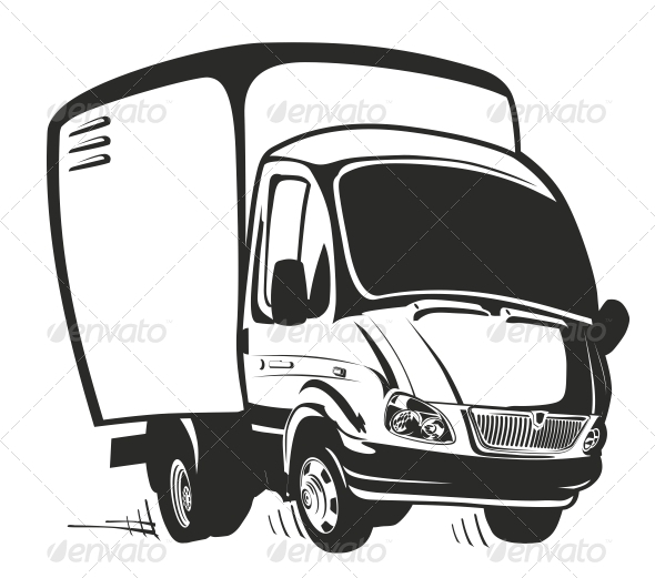 Vector Cartoon Truck - Miscellaneous Characters