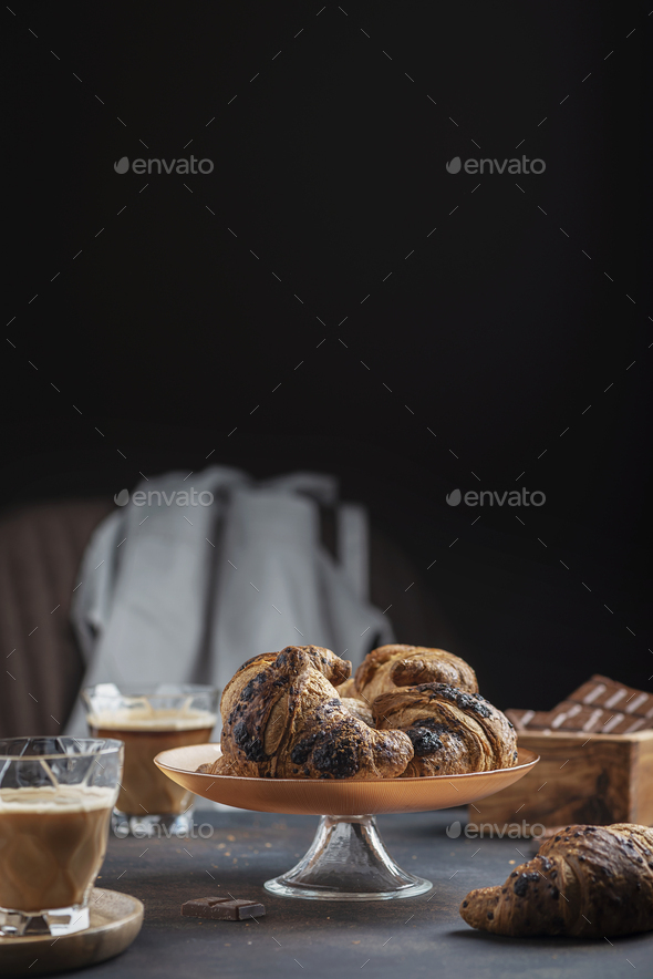 Concept of a traditional italian breakfast - Stock Photo - Images