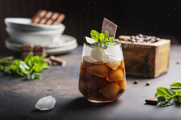 A glass of cold summer coffe - Stock Photo - Images