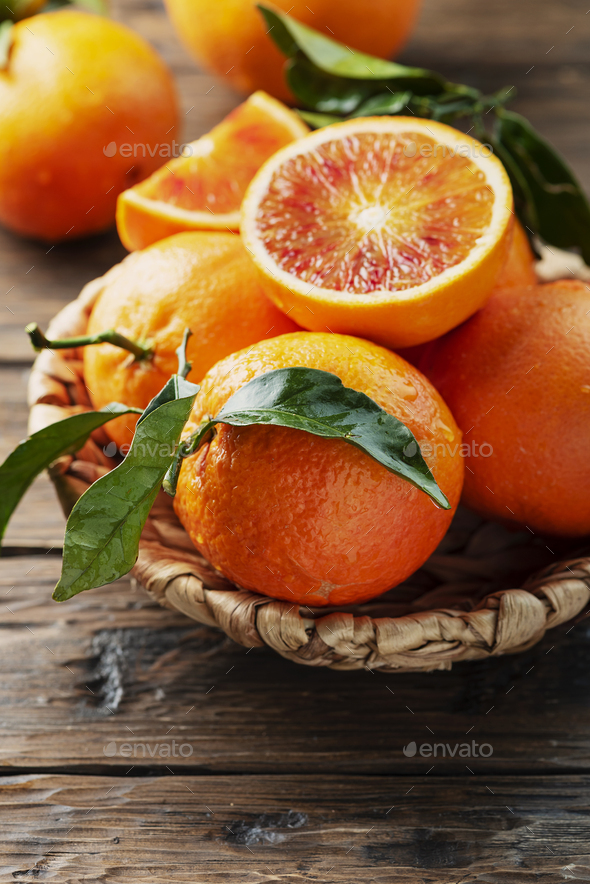 Sweet red oranges of Sicily - Stock Photo - Images