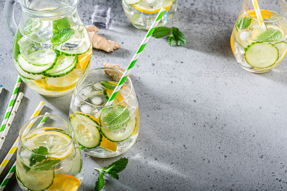 Summer healthy cocktails - Stock Photo - Images