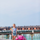 Little adorable girl with big luggage during summer vacation - PhotoDune Item for Sale
