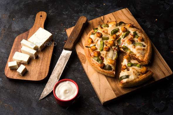 Paneer Pizza - Stock Photo - Images