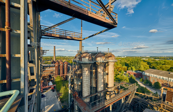 Industrial factory in Duisburg, Germany. - Stock Photo - Images