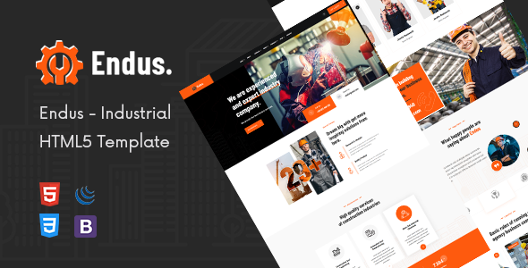 Marvelous Endus - Industrial Manufacturing HTML Template