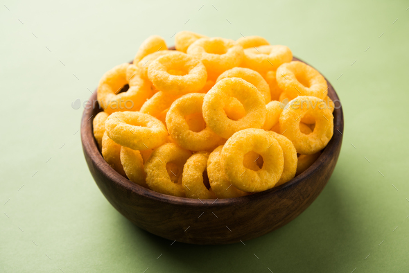 Cheese Puff Rings - Stock Photo - Images