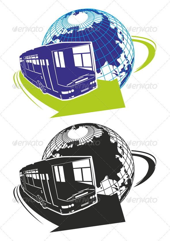 Vector Tour Bus as a Logo - Travel Conceptual