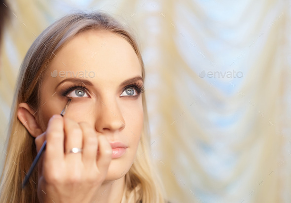 Woman face with make up. - Stock Photo - Images