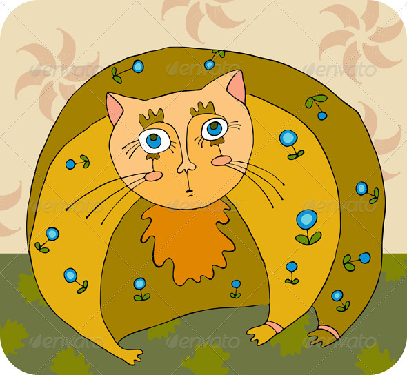 Fat Cat - Animals Characters