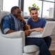 Black man and white guy using laptop. - PhotoDune Item for Sale