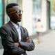 Young African businessman in the city outdoors - PhotoDune Item for Sale
