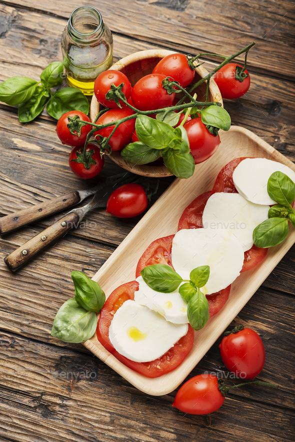 Traditional Italian dish caprese - Stock Photo - Images