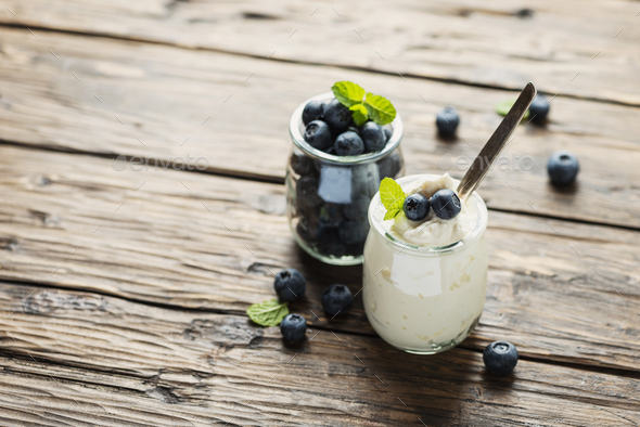 Healthy cottage cheese - Stock Photo - Images