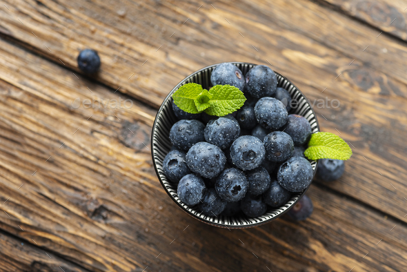 Fresh sweet blueberries - Stock Photo - Images